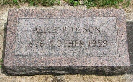 OLSON, ALICE P. - Union County, South Dakota   ALICE P. OLSON - South Dakota Gravestone Photos