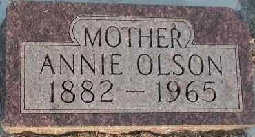 OLSON, ANNIE - Union County, South Dakota | ANNIE OLSON - South Dakota Gravestone Photos