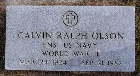 OLSON, CALVIN RALPH (WW II) - Union County, South Dakota | CALVIN RALPH (WW II) OLSON - South Dakota Gravestone Photos
