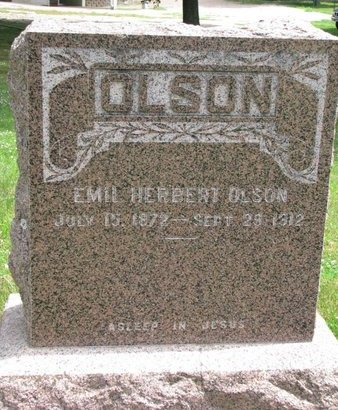 OLSON, EMIL HERBERT - Union County, South Dakota | EMIL HERBERT OLSON - South Dakota Gravestone Photos