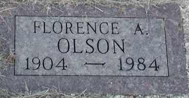 OLSON, FLORENCE A - Union County, South Dakota | FLORENCE A OLSON - South Dakota Gravestone Photos