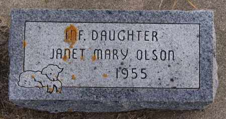 OLSON, JANET MARY - Union County, South Dakota | JANET MARY OLSON - South Dakota Gravestone Photos