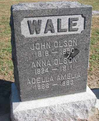 OLSON, ANNA - Union County, South Dakota | ANNA OLSON - South Dakota Gravestone Photos