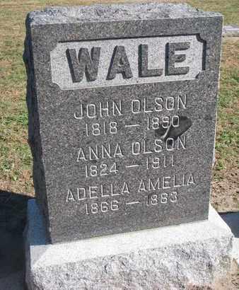OLSON, ADELLA AMELIA - Union County, South Dakota | ADELLA AMELIA OLSON - South Dakota Gravestone Photos