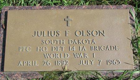 OLSON, JULIUS F. (WORLD WAR I) - Union County, South Dakota | JULIUS F. (WORLD WAR I) OLSON - South Dakota Gravestone Photos