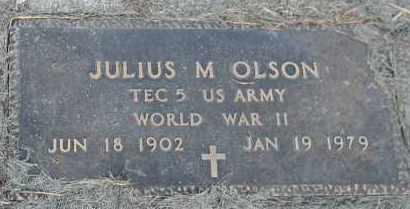 OLSON, JULIUS M (WORLD WAR II) - Union County, South Dakota | JULIUS M (WORLD WAR II) OLSON - South Dakota Gravestone Photos