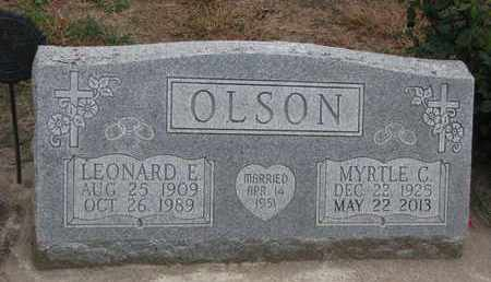 OLSON, LEONARD E. - Union County, South Dakota | LEONARD E. OLSON - South Dakota Gravestone Photos
