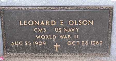 OLSON, LEONARD E. (WORLD WAR II) - Union County, South Dakota | LEONARD E. (WORLD WAR II) OLSON - South Dakota Gravestone Photos