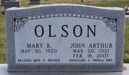 OLSON, JOHN ARTHUR - Union County, South Dakota | JOHN ARTHUR OLSON - South Dakota Gravestone Photos