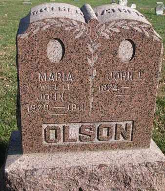 OLSON, MARIA - Union County, South Dakota | MARIA OLSON - South Dakota Gravestone Photos