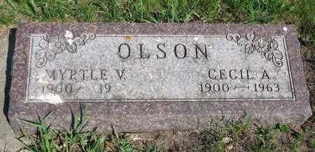 OLSON, CECIL A. - Union County, South Dakota   CECIL A. OLSON - South Dakota Gravestone Photos