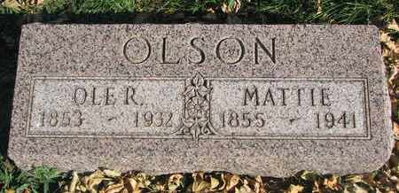 OLSON, MATTIE - Union County, South Dakota | MATTIE OLSON - South Dakota Gravestone Photos