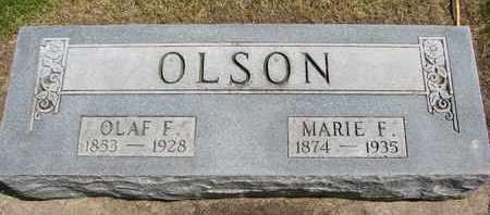 OLSON, MARIE F. - Union County, South Dakota | MARIE F. OLSON - South Dakota Gravestone Photos