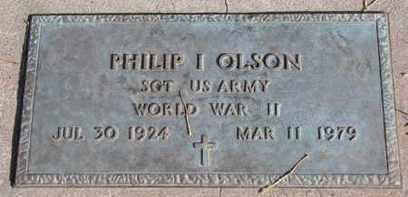 OLSON, PHILIP I. (WORLD WAR II) - Union County, South Dakota | PHILIP I. (WORLD WAR II) OLSON - South Dakota Gravestone Photos