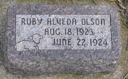 OLSON, RUBY ALVEDA - Union County, South Dakota | RUBY ALVEDA OLSON - South Dakota Gravestone Photos