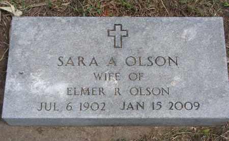 OLSON, SARA A. - Union County, South Dakota | SARA A. OLSON - South Dakota Gravestone Photos