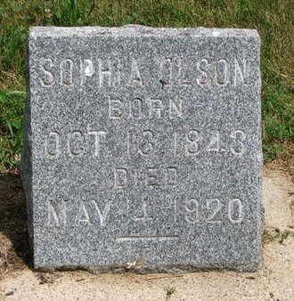 OLSON, SOPHIA - Union County, South Dakota | SOPHIA OLSON - South Dakota Gravestone Photos