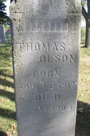 OLSON, THOMAS (CLOSEUP) - Union County, South Dakota | THOMAS (CLOSEUP) OLSON - South Dakota Gravestone Photos