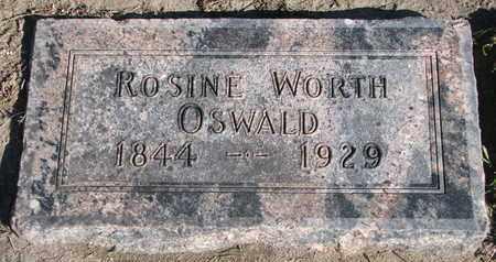 WORTH OSWALD, ROSINE - Union County, South Dakota | ROSINE WORTH OSWALD - South Dakota Gravestone Photos