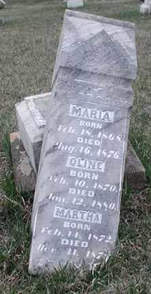 OYE, MARIA - Union County, South Dakota | MARIA OYE - South Dakota Gravestone Photos