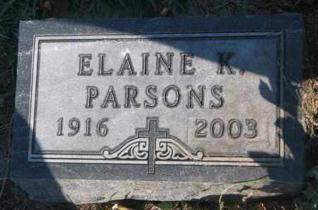 PARSONS, ELAINE K. - Union County, South Dakota | ELAINE K. PARSONS - South Dakota Gravestone Photos