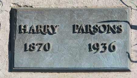 PARSONS, HARRY - Union County, South Dakota   HARRY PARSONS - South Dakota Gravestone Photos