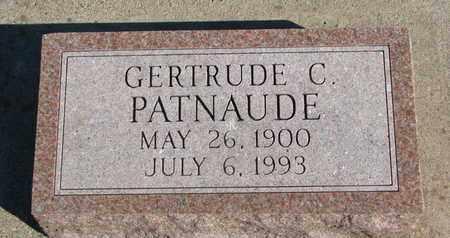 PATNAUDE, GERTRUDE C. - Union County, South Dakota | GERTRUDE C. PATNAUDE - South Dakota Gravestone Photos