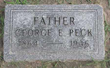 PECK, GEORGE E. - Union County, South Dakota | GEORGE E. PECK - South Dakota Gravestone Photos