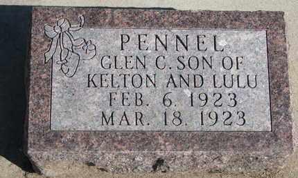 PENNEL, GLEN C. - Union County, South Dakota   GLEN C. PENNEL - South Dakota Gravestone Photos