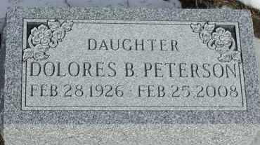 PETERSON, DOLORES B. - Union County, South Dakota   DOLORES B. PETERSON - South Dakota Gravestone Photos