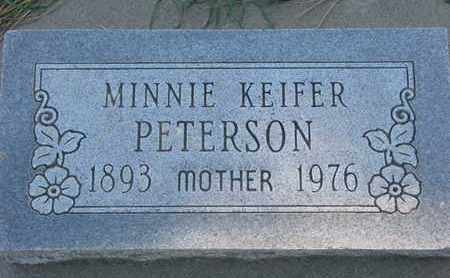 KEIFER PETERSON, MINNIE - Union County, South Dakota | MINNIE KEIFER PETERSON - South Dakota Gravestone Photos