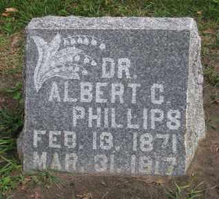 PHILLIPS, ALBERT C. (DR.) - Union County, South Dakota   ALBERT C. (DR.) PHILLIPS - South Dakota Gravestone Photos