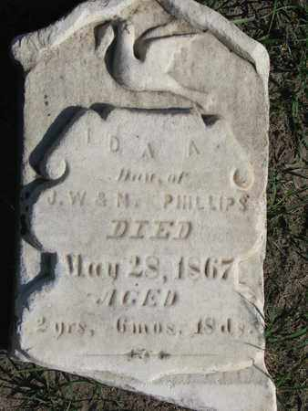 PHILLIPS, IDA A. - Union County, South Dakota   IDA A. PHILLIPS - South Dakota Gravestone Photos