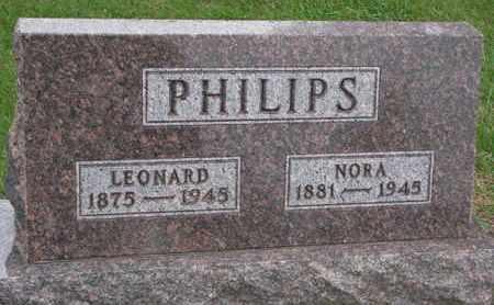 PHILLIPS, NORA - Union County, South Dakota   NORA PHILLIPS - South Dakota Gravestone Photos