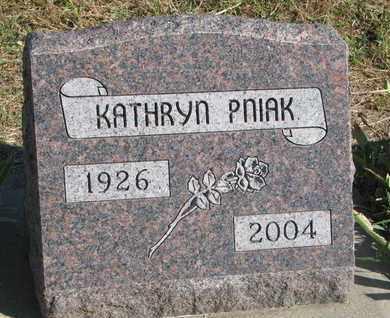 PNIAK, KATHRYN - Union County, South Dakota   KATHRYN PNIAK - South Dakota Gravestone Photos