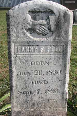 POOR, FANNY F. - Union County, South Dakota | FANNY F. POOR - South Dakota Gravestone Photos
