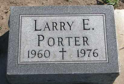 PORTER, LARRY E. - Union County, South Dakota   LARRY E. PORTER - South Dakota Gravestone Photos