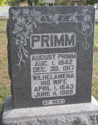 PRIMM, AUGUST - Union County, South Dakota | AUGUST PRIMM - South Dakota Gravestone Photos
