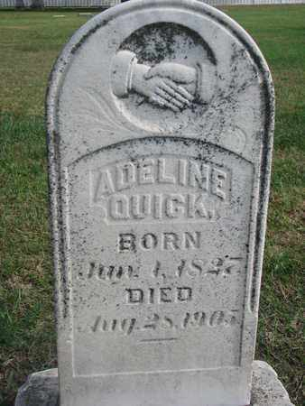 QUICK, ADELINE - Union County, South Dakota | ADELINE QUICK - South Dakota Gravestone Photos