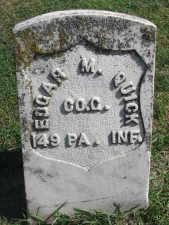 QUICK, EDGAR M. - Union County, South Dakota | EDGAR M. QUICK - South Dakota Gravestone Photos