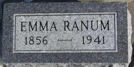 RANUM, EMMA - Union County, South Dakota | EMMA RANUM - South Dakota Gravestone Photos