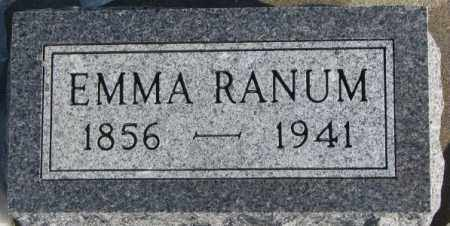 RANUM, EMMA - Union County, South Dakota | EMMA RANUM - South Dakota Gravestone Photos
