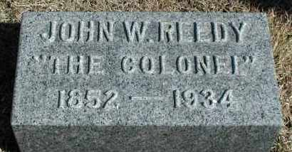 REEDY, JOHN W - Union County, South Dakota | JOHN W REEDY - South Dakota Gravestone Photos