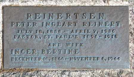 REINERTSEN, INGER BERTINE (CLOSEUP) - Union County, South Dakota | INGER BERTINE (CLOSEUP) REINERTSEN - South Dakota Gravestone Photos