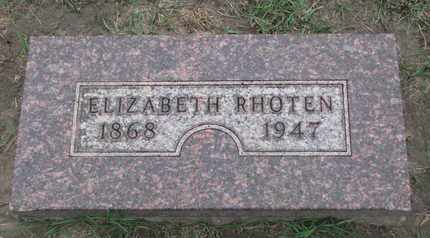 RHOTEN, ELIZABETH - Union County, South Dakota | ELIZABETH RHOTEN - South Dakota Gravestone Photos