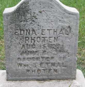 RHOTEN, EDNA ETHAL - Union County, South Dakota | EDNA ETHAL RHOTEN - South Dakota Gravestone Photos