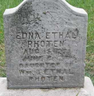 RHOTEN, EDNA ETHAL - Union County, South Dakota | EDNA ETHAL RHOTEN - South Dakota Gravestone Photos