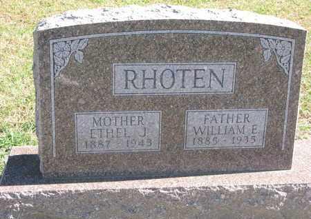 RHOTEN, WILLIAM E. - Union County, South Dakota | WILLIAM E. RHOTEN - South Dakota Gravestone Photos