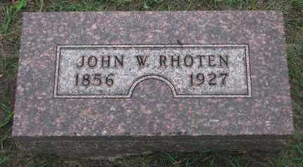 RHOTEN, JOHN W. - Union County, South Dakota | JOHN W. RHOTEN - South Dakota Gravestone Photos