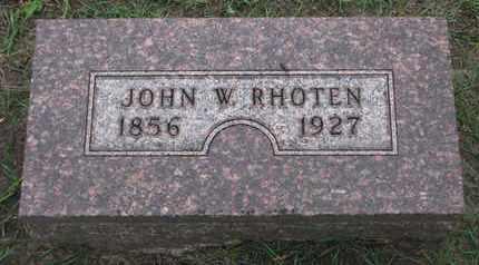 RHOTEN, JOHN W. - Union County, South Dakota | JOHN W. RHOTEN - South Dakota Gravestone Photos